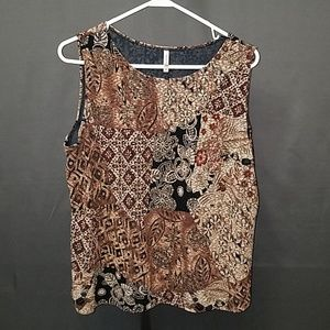 3 for $12- XL printed blouse